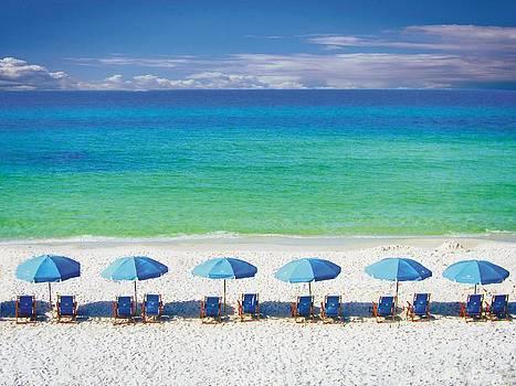 Joe Duket - Watercolor Beach Umbrellas