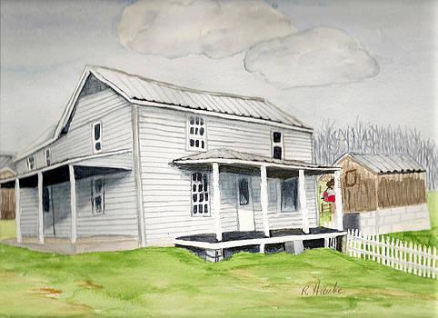 Watercolor farmhouse by Reta Haube