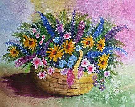 Watercolor floral by Reta Haube