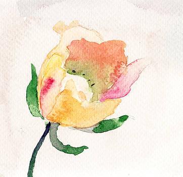 Watercolor illustration with beautiful flower  by Regina Jershova
