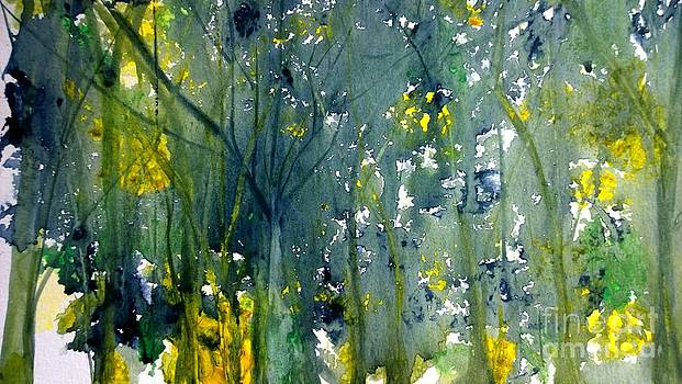 Abstract Watercolor by Eunice Miller