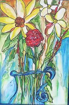 Watercolor like flowers by Michelle Gonzalez