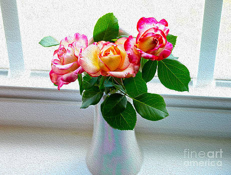 Watercolor Roses by Candy Frangella
