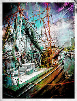 Watercolor Shrimp Boat by Hope Mastroianni