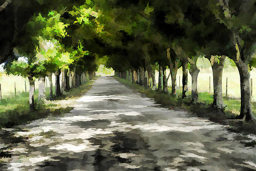 Watercolored driveway by Keith Lovejoy