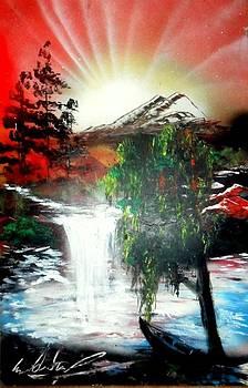 Waterfal by Evaldo Art