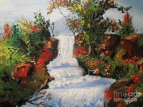 WaterFall by Artist Nandika  Dutt