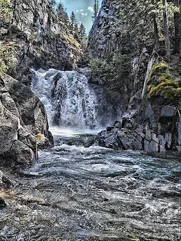 Waterfall at Wallowa Lake in Oregon by Rusty Jeffries