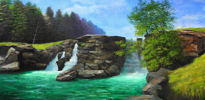 Waterfall by Erno Saller