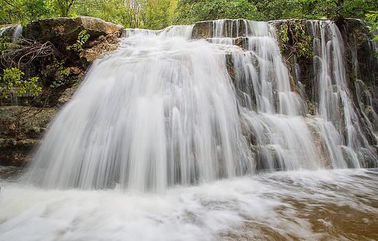 Waterfall in Bull Creek Tributary by Steven Schwartzman