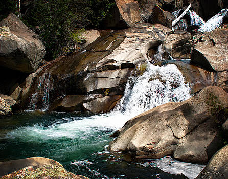 Waterfall in the Colorado Rocky Mountains by Julie Magers Soulen