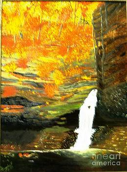 Waterfall in the Fall by Betty and Kathy Engdorf and Bosarge