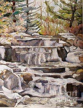 Waterfall in the Gardens by Kathryn Rose
