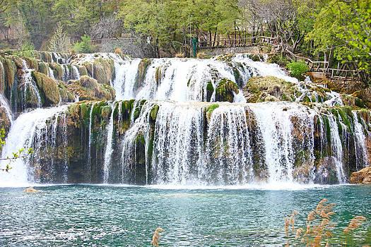 Waterfall on Krka river by Borislav Marinic
