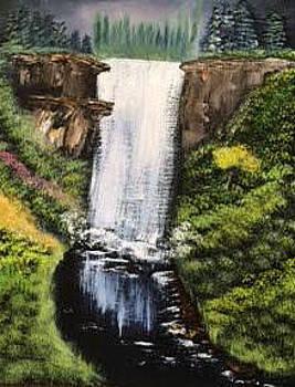 Waterfall by Roxanne Zusmer