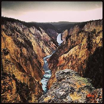 #waterfall #yellowstone #wy #lowerfalls by Greta Olivas