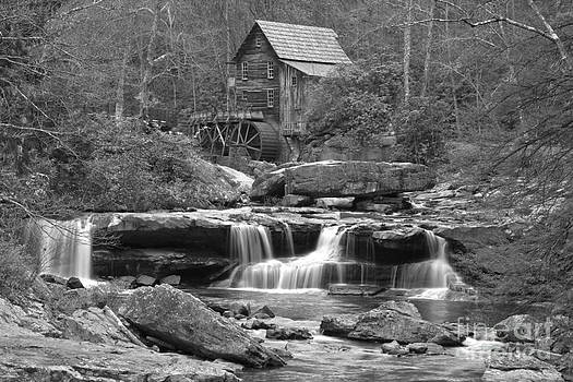 Adam Jewell - Waterfalls And A Grist Mill In Black And White