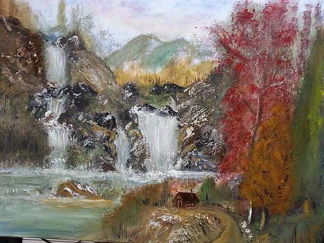 Waterfalls Landscape by Kam Abdul