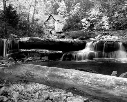 Randall Branham - Waterfalls Mill Black n white