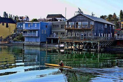 Waterfront Kayaker by Rick Lawler