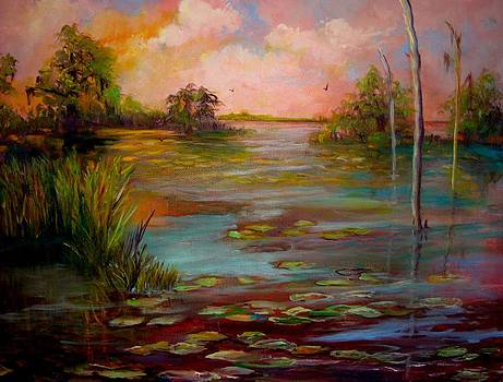 Waterlilies on the Swamp by AnnE Dentler