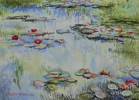 Waterlillies after Monet by Louise Green