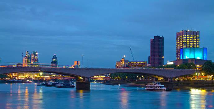 David French - Waterloo  Bridge St Pauls London