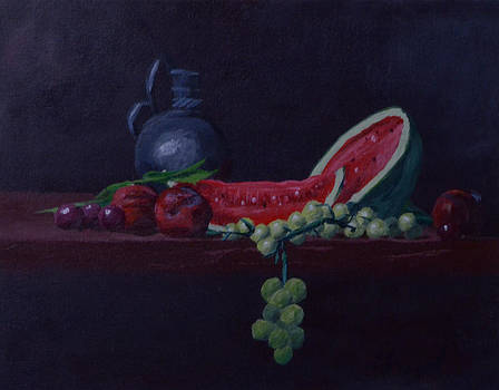 Watermelon and Plums by Nick Froyd