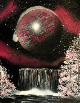 Watermelon Pink Falls by Sherry Chick