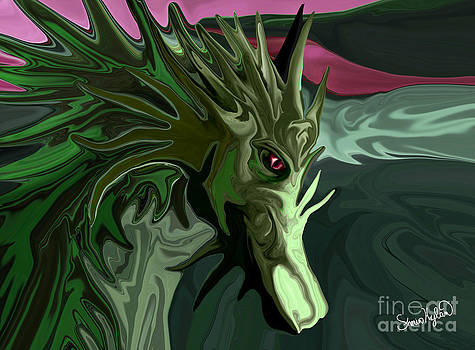 Watermelon Tourmaline Dragon by Sherin  Hylan