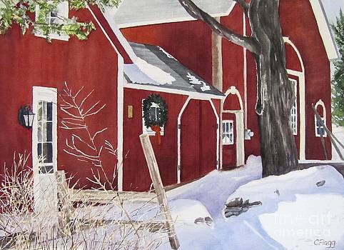 Waters Rd Red Barn by Carol Flagg