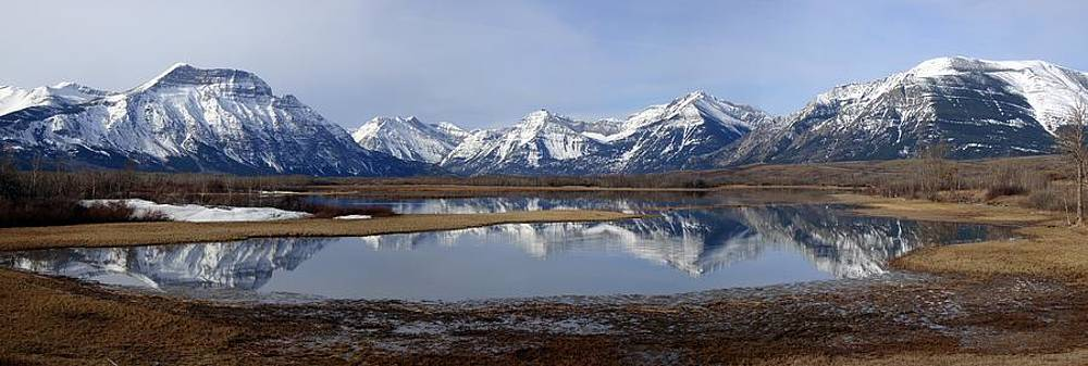Waterton Lakes Nat. Park Morning Reflections - Alberta by Ian Mcadie