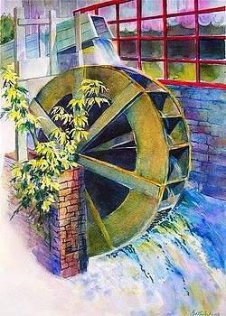 Betty M M   Wong - Waterwheel