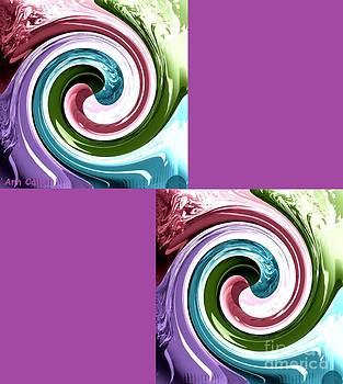 Wave of Purple by Ann Calvo