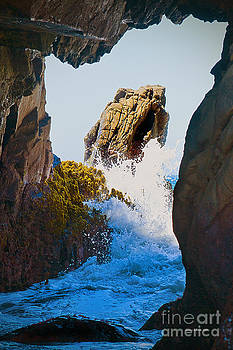 Artist and Photographer Laura Wrede - Wave through the Cave at Pfiffer Beach in Big Sur