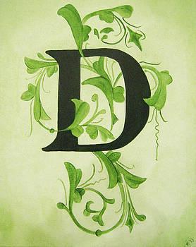 Waverly D Monogram by Katie Fitzgerald
