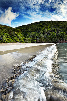 Waves at Magens Bay Beach by Eyzen M Kim