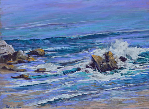 Waves at Sally's View by Patricia Rose Ford