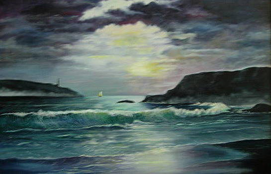 Waves In The Bay by Brent Vall Peterson