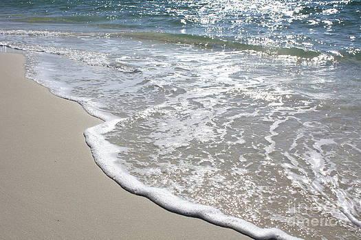 Waves on Pristine Sand by Danielle Groenen
