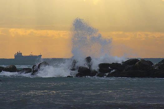 Waves on the Rocks by Cassandra NightThunder