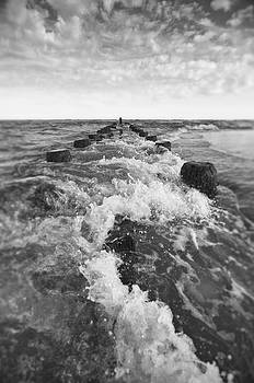 Waves Over The Jetty by Ginny Horton