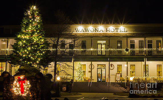 Wawona Hotel Yosemite National Park Yosemite Christmas by Lisza Anne McKee