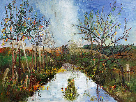 Way Near Beselin After The Rain by Barbara Pommerenke