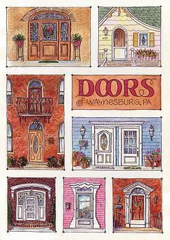 Waynesburg Doors by Leslie Fehling