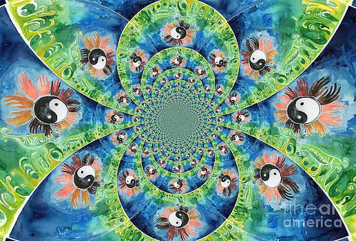 Genevieve Esson - We Are All One Race Flower Kaleidoscope Mandela
