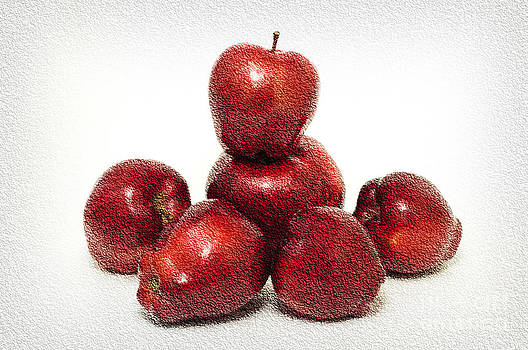 Andee Design - We Are Family - 6 Red Apples - Fresh Fruit - An Apple A Day - Orchard