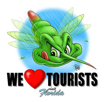 We Love Tourists Mosquito by Scott Ross