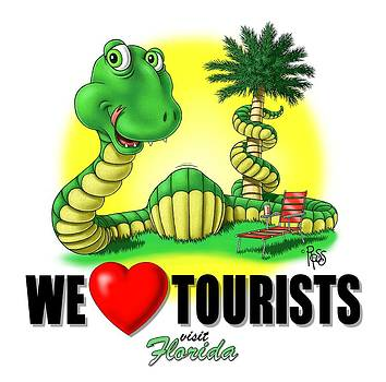We Love Tourists Snake by Scott Ross