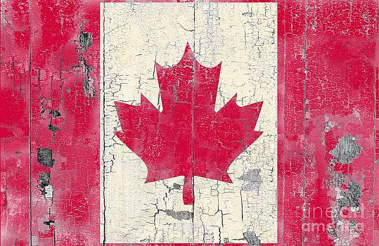 Weather worn Canadian Flag by Sharon Marcella Marston